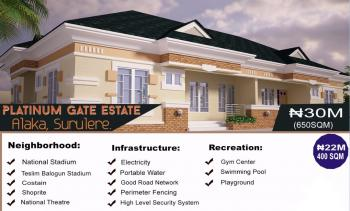 Plots of Land Measuring 650 Sqm, Platinum Gate Estate, Alaka, Surulere, Lagos, Land for Sale