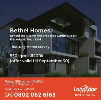 Plots of Dry Land for Sale in Eleranigbe Ibeju Lekki, Bethel Homes, Eleranigbe, Ibeju Lekki, Lagos, Residential Land for Sale