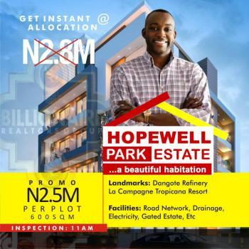 Hopewell Park Estate Land, After Free Trade Zone, Lapekun, Ibeju Lekki, Lagos, Residential Land for Sale