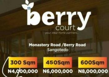 Land, Berry Estate, Off Monetary Road, Sangotedo, Ajah, Lagos, Land for Sale