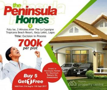 Buy 5 Plots  and Get One Plot Free From Pennisula Gardens Ibeju at 700k per Plot, Pennisula Homesis The Estate After Lacarpan Tropicana Resort, Akodo Ise, Ibeju Lekki, Lagos, Residential Land for Sale