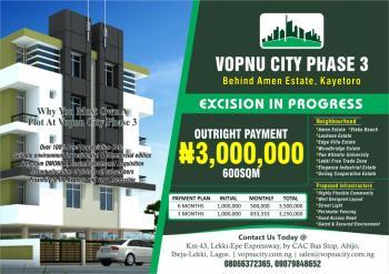 Vopnu City Phase 3, Kayetoro, Behind Amen Estate, Eleko, Ibeju Lekki, Lagos, Residential Land for Sale