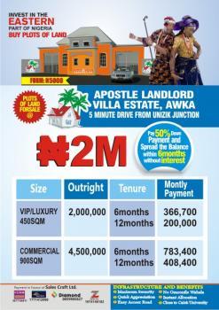 Apostle Landlord Villa Estate, Along Awka Road, Awka, Anambra, Mixed-use Land for Sale