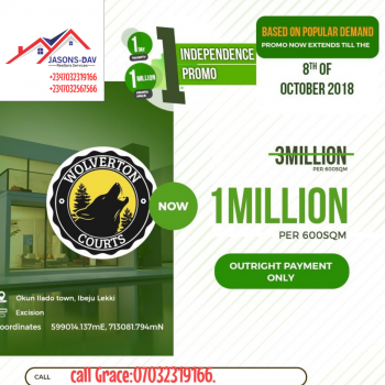 Super Promo Offer:  Wolverton Court  Ibeju Lekki, Before Lekki Trade Zone and Along The Road, Ibeju Lekki, Lagos, Residential Land for Sale