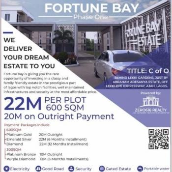 Fortune Bay Phase 1, Abraham Adesanya Estate, Ajah, Lagos, Residential Land for Sale