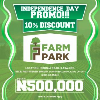 Farm Your Way to Wealth and Prosperity with Farm Park, Epe, Lagos, Commercial Land for Sale
