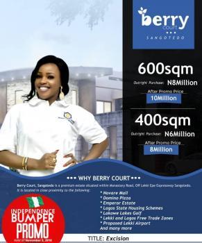 Berry Courts Phase 2, Behind Novare Shoprite, Sangotedo, Ajah, Lagos, Residential Land for Sale