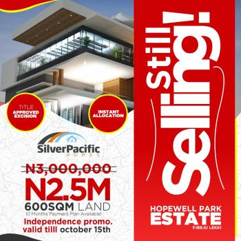 Hopewell Park Estate, Opposite La Campagne Beach Resort, Ibeju Lekki, Lagos, Residential Land for Sale