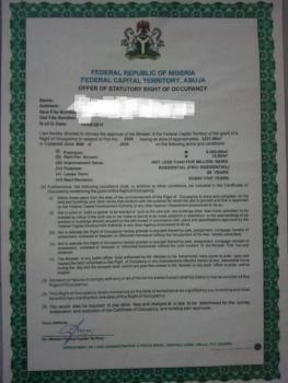1300 Sqm Residential Land, Jahi, Abuja, Residential Land for Sale