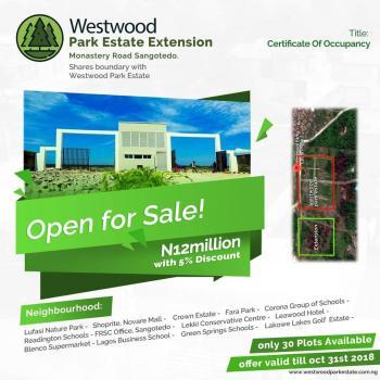C of O Land, Behind Shoprite, Westwood Avenue, Behind Shoprite, Sangotedo, Ajah, Lagos, Residential Land for Sale