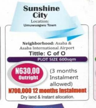 Plots of Land, Sunshine City, Oshimili South, Delta, Land for Sale