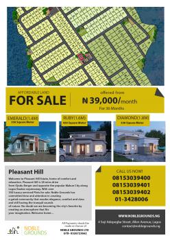 Affordable Lands, Pleasant Hills Estate, Sagamu, Ogun, Residential Land for Sale