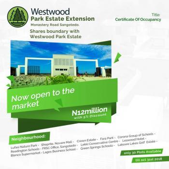 Westwood Park Estate Extension, Off Monastery Road, Sangotedo, Ajah, Lagos, Residential Land for Sale