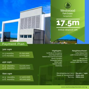 a Plot of Land with C of O, Westwood Park, Off Monastery Road, Sangotedo, Ajah, Lagos, Land for Sale