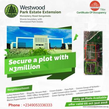 Westwood, Sangotedo, Ajah, Lagos, Residential Land for Sale