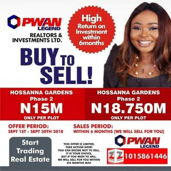 Make 3.750million in 6months, Buy and Invest in Hosanna Gardens. Great Deal You Wouldnt Want to Miss., Eleko Beach Road, Opposite Eleko Shoprite, Beside and Opposite Amen Estate, Eleko, Ibeju Lekki, Lagos, Residential Land for Sale