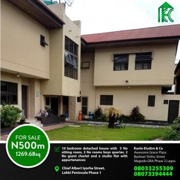 10 Bedroom Detached House in a Land Area of 1300sqm, Chief Albert Iyorha Street Lekki Phase 1, Lekki Phase 1, Lekki, Lagos, Detached Duplex for Sale