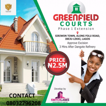 Greenfield Court Extension, Ibeju, Lagos, Mixed-use Land for Sale
