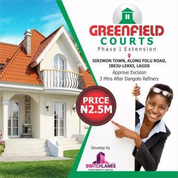 Greenfield Estate, 5 Minute Drive After Lekki Free Trade Zone, Folu Ise, Ibeju Lekki, Lagos, Residential Land for Sale
