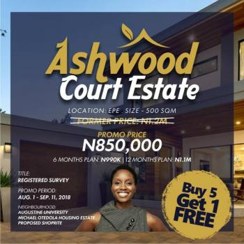 Ashwood Court, with Registered Survey, Ilara Town (close to Augustine University), Epe, Lagos, Land for Sale