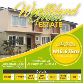 3 Bedroom Terrace Duplex, Oribanwa, Lekki Peninsula, Lekki Expressway, Lekki, Lagos, House for Sale