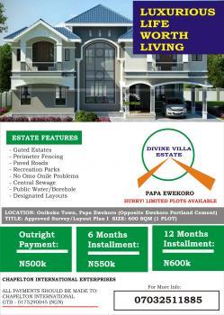 Plots of Land for Sale (divine Villa Estate) Papa Ifo Ogun State, Papa Ewekoro (divine Villa Estate), Onikoko Town, Ewekoro, Ogun, Residential Land for Sale