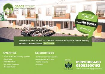 Grace Courts: 10 Units of 3-bedroom Terraces with 1 Room Bq on Lafiaji Road By Orchid Hotel Road, Lafiaji Road, Off Orchid Hotel Road, Lafiaji, Lekki, Lagos, House for Sale
