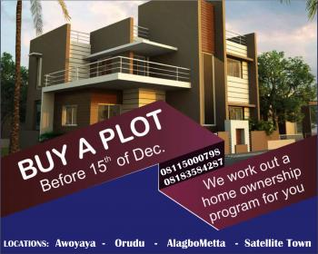 Plot of Land, Behind The Popular Magodo G.r.a Phase 1 Estate and Beside The Isheri North Scheme 1 and Scheme 2 Gra, Opic, Isheri North, Ogun, Residential Land for Sale