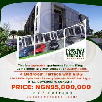 Luxury 4 Bedroom Terrace with Bq, Mercedes Avenue, Ikate Elegushi, Lekki, Lagos, Terraced Duplex for Sale