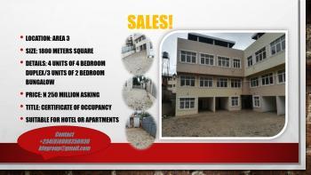House, Area 3, Garki, Abuja, Terraced Duplex for Sale