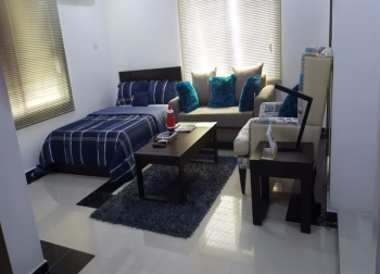 Serviced and Fully Furnished Apartment in a Gated Estate, Off Elegushi Beach Road, 3rd Round About Coming From Victoria Island, Lekki Phase 1, Lekki, Lagos, Mini Flat Short Let