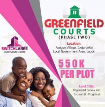 Dry Land, Greenfield Court, Ibeju Lekki, Lagos, Land for Sale