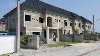 Carcass 4-bedroom Terrace House, Off Ogombo Road, Abraham Adesanya Estate, Ajah, Lagos, Terraced Duplex for Sale