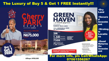 Luxury Land of Buy 5 Get One Free, Ibeju, Lagos, Mixed-use Land for Sale