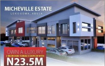Luxury 3 Bedroom Terraced Duplex, Micheville Estate, Lokogoma District, Abuja, Terraced Duplex for Sale