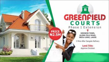 Greenfield Court Phase 1 Extension with Government Approved Title, Siriwon Town, Along Folu Road, 3 Minutes After Dangote Refinery, Folu Ise, Ibeju Lekki, Lagos, Mixed-use Land for Sale