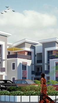 Selling New 4 Bedrooms Terrace with 1 Room Bq, Jahi, Abuja, Terraced Duplex for Sale