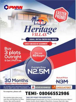 Heritage Villas, Ogbaku, Owerri (buy 3 Get 1 Free), Ogbaku, Owerri-onitsha Road, Owerri, Imo, Mixed-use Land for Sale