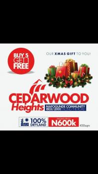 Cedarwood Heights  Estate, Folu Ise, Ibeju Lekki, Lagos, Mixed-use Land for Sale