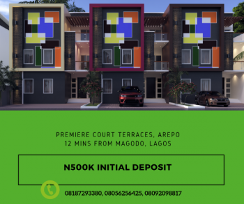 4 Bedroom + Study Terrace Houses @ Premiere Court, Arepo -12mins From Magodo, Lagos, Ekundayo Avenue, Off Balogun Crescent, Arepo - Adjacent, Isheri North, Lagos, Terraced Duplex for Sale
