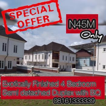Exotically Finished 4 Bedroom Semi Detached Duplex with Bq, Creek Avenue Estate, Ikota Villa Estate, Lekki, Lagos, Semi-detached Bungalow for Sale