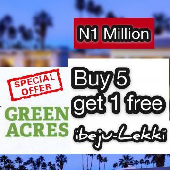 Buy 5 Get 1 Promo Land, Greenacres Estate, Gre Min Drive From Dangote Refinery, Ibeju Lekki, Lagos, Residential Land for Sale