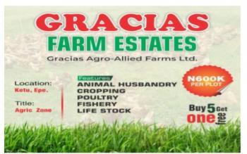 Gracias Farm Estates, Ketu, Epe, Lagos, Commercial Land for Sale