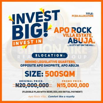 Apo Rock Villa Estate, Behind Legislative Quarters, Opposite Shoprite, Apo, Abuja, Residential Land for Sale