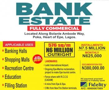 Commercial Plots, 14 Minutes From The Lekki International Airport, 1 Minute From The New Fire Station Terminal, Epe, Lagos, Commercial Land for Sale