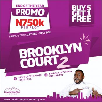 Brooklyn Courts 2 - Buy 5 Get 1 Free, Akodo Ise, Ibeju Lekki, Lagos, Residential Land for Sale