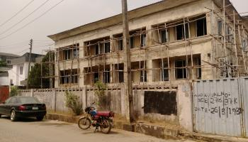 an Uncompleted Block of 6 Flats, with a Bungalow and a Building at The Back on 2,400sqm Land, Bayo Adejuwon, Maryland, Lagos, Detached Duplex for Sale