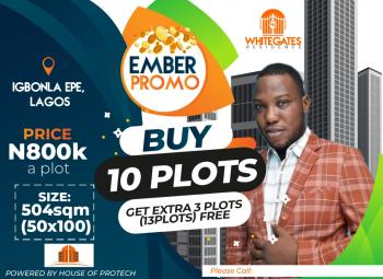 Dry Plots of Land in an Estate - Buy 10 Get 3 Plots Free, Eredo Lcda, Epe, Lagos, Residential Land for Sale