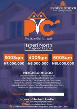 Dry Plots of Land in an Existing Developed Estate (praiseville Court), Praiseville Court, Opic, Isheri North, Lagos, Residential Land for Sale