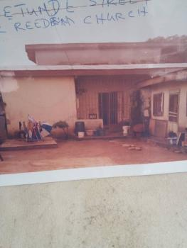 Decent 3 Bedroom Setback Plus 2 Units of Mini Flat at The Wing and 4 Shops in a Nice Neighborhood, Yetunde Street, Fagba, Agege, Lagos, Detached Bungalow for Sale